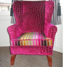 Classic Wing Chair in nabucco pink fabric