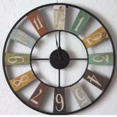 Industrial style up cycled metal clock