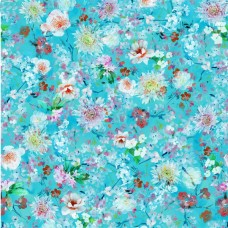 AVELLI TURQUOISE ROMANTIC ALL OVER FLORAL DESIGN